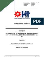 Expediente Tecnico Cambio Molino Marcy Por Molino Comesa 6.5 x 14