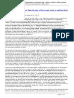 Periodico Diagonal - Hacer Desde El 039impasse039 Feminismos Diferencias Crisis y Politica de Lo Comun - 2015-03-11