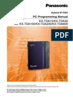 kx tda15 v3 pc programming manual public switched telephone rh scribd com panasonic td100 user manual panasonic tda100 pc programming manual