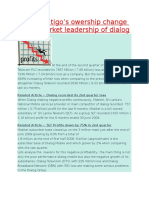 Impact of Tigo's Owership Change to the Market Leadership of Dialog