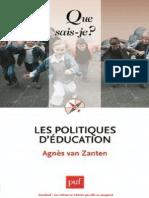 Les Politiques d'Education - Agnes Van Zanten (1)