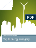 Top 10 Energy Saving Tips