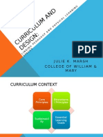 curriculum and design - linking pedagogy and physical learning spaces