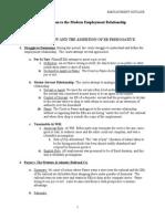Employment & Labor Law Outline