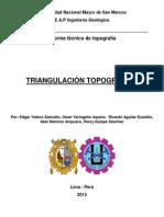Informe topográfico triangulación