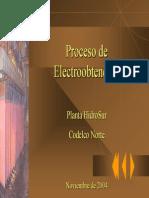 Proceso de Electrobtención Plantas mineras