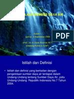 PW PSDA-Pengelolaan SDA
