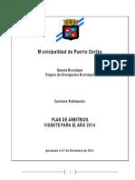 Plan de Arbitrio 2014 de Puerto Cortes