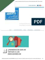Abierto Al Público 5 Maneras de Dar Un Vistazo a Los Indicadores de Desarrollo de Un País Con El Portal de Datos Abiertos Del BID - Abierto Al Público