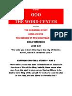 THE CHRISTMAS STORY ORIGINATES WITH ADAM AND EVE