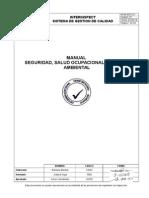 IIA-M-SGC-02. Manual de Seguridad Ocupacional, Salud y Medio Ambiente. Ver 01