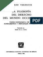 Filosofia Del Derecho - Alfred Verdross