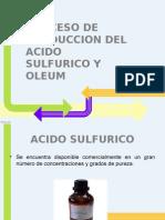 Produccion de Ac. Sulfurico y Olum