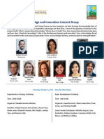 SMS Denver Knowledge and Innovation Interest Group Program 2015 Long
