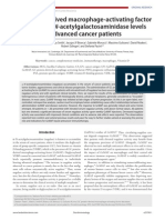GC protein-derived macrophage-activating factor decreases α-N-acetylgalactosaminidase levels in advanced cancer patients
