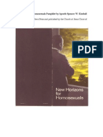 New Horizons for Homosexuals by Apostle Spencer W. Kimball