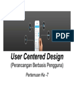 7 User Centered Design