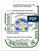 Visita Técnica al Relleno Sanitario Portillo Grande y el Relleno de Seguridad Huatiqumer