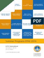 UCSC 2016 Summer Program