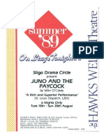 Juno and the Paycock Flyer 1989