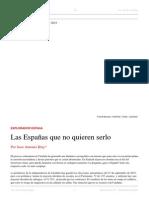 Juan Antonio Blay. Las Españas que no quieren serlo. El Dipló. Edición Nro 197. Noviembre de 2015.pdf
