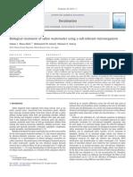 Biological Treatment of Saline Wastewater Using a Salt Tolerant Microorganism Tet 7 9 Nhom z