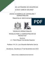 Modelos Para La Administración de Proyectos