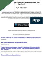 Addison Wesleys Laboratory and Diagnostic Test Handbook