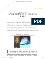 ¿Quién Se Atreverá a Bombardear Rusia_, Por Valentin Vasilescu