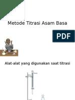 Metode Titrasi Asam Basa