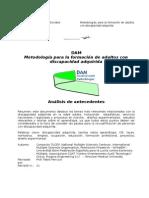 DAMI Metodologia Formacion Discapacidad Adquirida