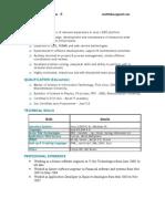 Resume of S.lakshmi Narasimhan J2EE - 4.10