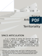Space Articulation and Territoriality
