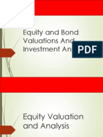 UNIT VI - Equity _ Bond Valuations and Investment Strategies - Sep 10