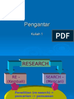 kuliah 1 pengantar metode penelitian