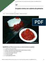 Dip de Queso Crema Con Cubierta de Pimiento Rojo Agridulce