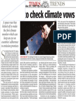 Satellites to check climate vows