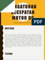Pengaturan Kecepatan Motor Dc