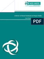 A Review of School Textbooks for Project Maths