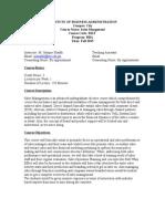 Sales Management - Course Outline