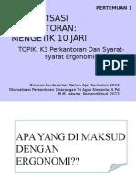 PPT K3 Dan Syarat Ergonomi