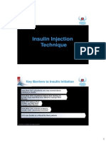 PDCI Core Kit 12 Insulin Injection Technique