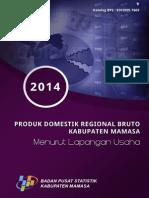 Produk Domestik Regional Bruto Menurut Lapangan Usaha Kabupaten Mamasa 2014