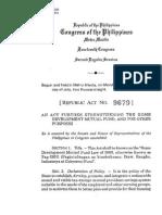Ra 9679 Pag-ibig Law