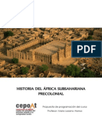 Programación del curso de Historia de África Precolonial - Propuesta CEPOAT