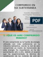 Sustentación. Aire Comprimido en Mineria Subterranea