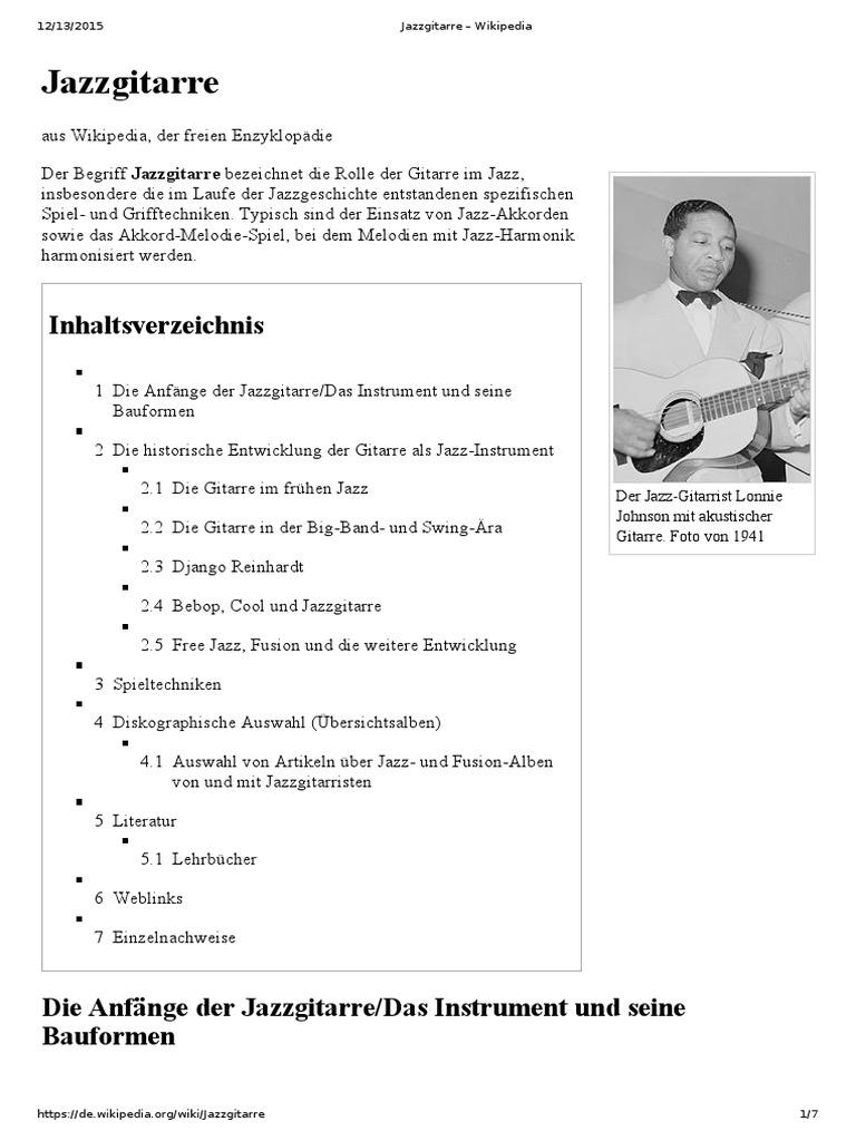 Jazzgitarre Wikipedia