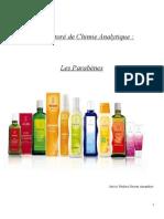 Recherche bibliographique de dosage des parabens dans les cosmétiques