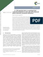 Nanoscale Volume 6 Issue 21 2014 [Doi 10.1039%2Fc4nr04262j] Yuan, Zhimin_ Yin, Longwei -- CdSe–CdS Quantum Dots Co-sensitized ZnO Hierarchical Hybrids for Solar Cells With Enhanced Photo-electrical Co