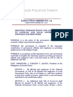 Executive Order No. 74 and 74-A